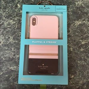 Kate Spade XS Max iPhone case Charlotte stripe